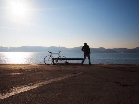 water-beach-bike-man